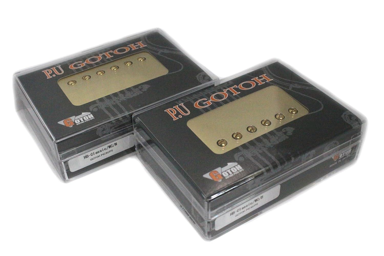 【GOTOH PICKUPS】ハムバッカー用ピックアップ HB-Classic ゴールドカバー 日本製セットGTPU-HB-CLS-GLD-S B01414KUJQ  ゴールド