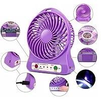 VOLTAC Rechargeable USB Mini Fan Model 379912 (Multicolour, E/AKST3530/TN)