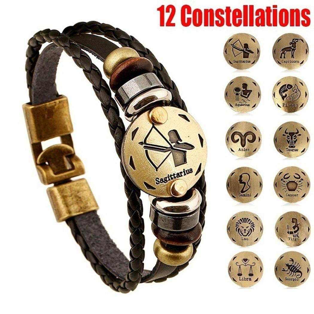 Huhuali Women Simple Casual Alloy Carve Multilayer Woven Bracelets Gifts Strand
