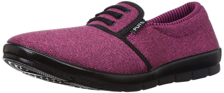 Flite PU Women Dark Pink Ballet Flats-6 UK