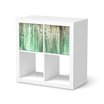 Creatisto Muster Für IKEA Kallax Regal 2 Türelemente Querformat |  Dekorfolien Möbel Folie Sticker Möbel