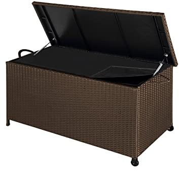Fantastique Deuba Coffre boîte de Rangement polyrotin Malle Stockage Jardin HP-11