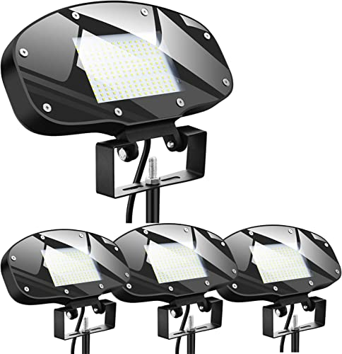 80W LED Outdoor Flood Light with Knuckle 9000LM Super Bright,ETL DLC Listed Wall Washer Security Light,FloodLights Natural white 5000K AC110-277V Waterproof IP65 4 pack