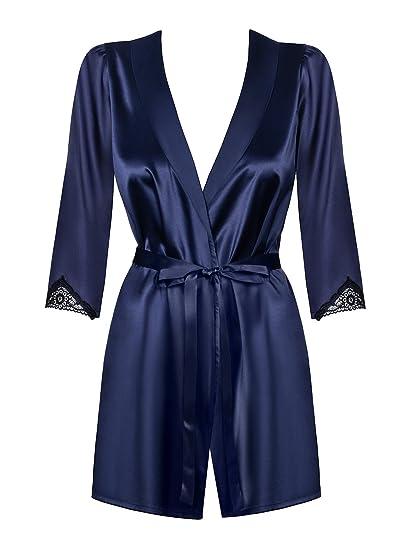 dc9921b9e5 Amocarat SA Obsessive Satinia Robe Dark Blue  Amazon.co.uk  Clothing