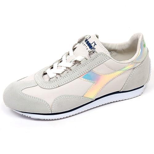 Diadora C9036 Sneaker Donna Heritage Equipe Hologram Bianco Ghiaccio Shoe  Woman  37   Amazon.it  Scarpe e borse dfd2a4fb5bd