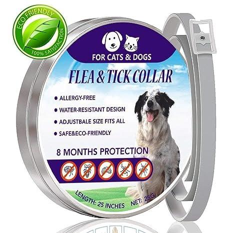 kekai Collar de pulgas y garrapatas para Perros, Gatos, Collares de Control de plagas