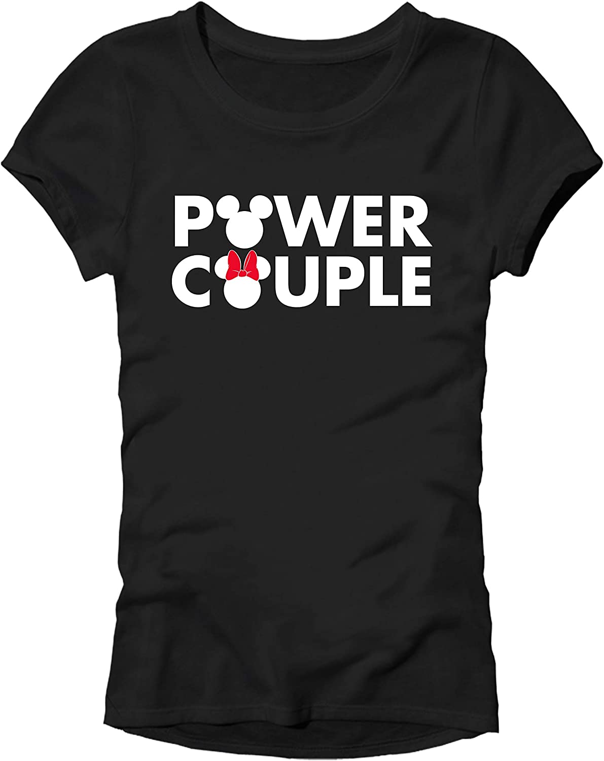 Disney Mickey Mouse Minnie Power Couple Matching Adult T-Shirt