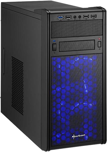 Sharkoon MS120 Carcasa de Ordenador Mini-Tower Negro - Caja de Ordenador (Mini-Tower, PC, SECC, Negro, Micro ATX, Juego): Amazon.es: Informática