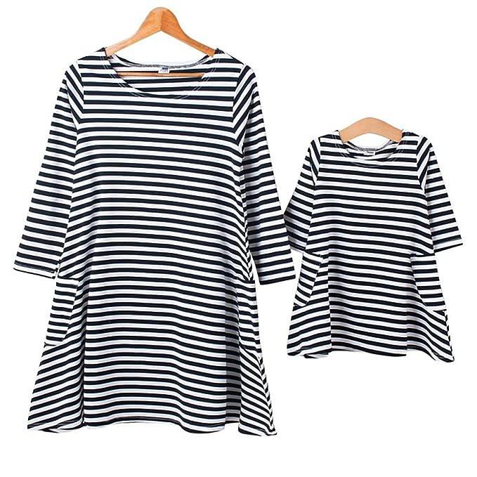 Amazon.com: ibeauti rayas blanco y negro vestido con ...
