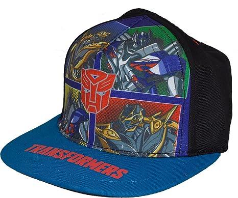 5e54625e0 Boys Optimus Prime Auto Bots Transformers Summer Flat Peak Snapback  Baseball cap