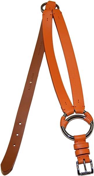 Ralph Lauren Polo Cinturón de piel para mujer (talla pequeña ...