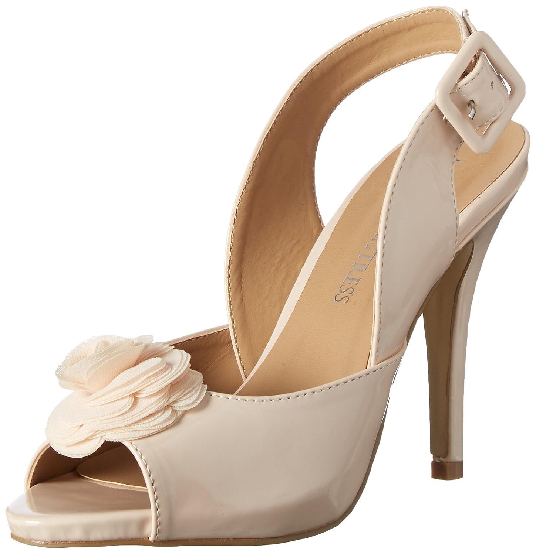 Little Mistress Eirenne, Zapatos de Tacón con Punta Cerrada para Mujer 40 EU|Hueso - Elfenbein (Nude)