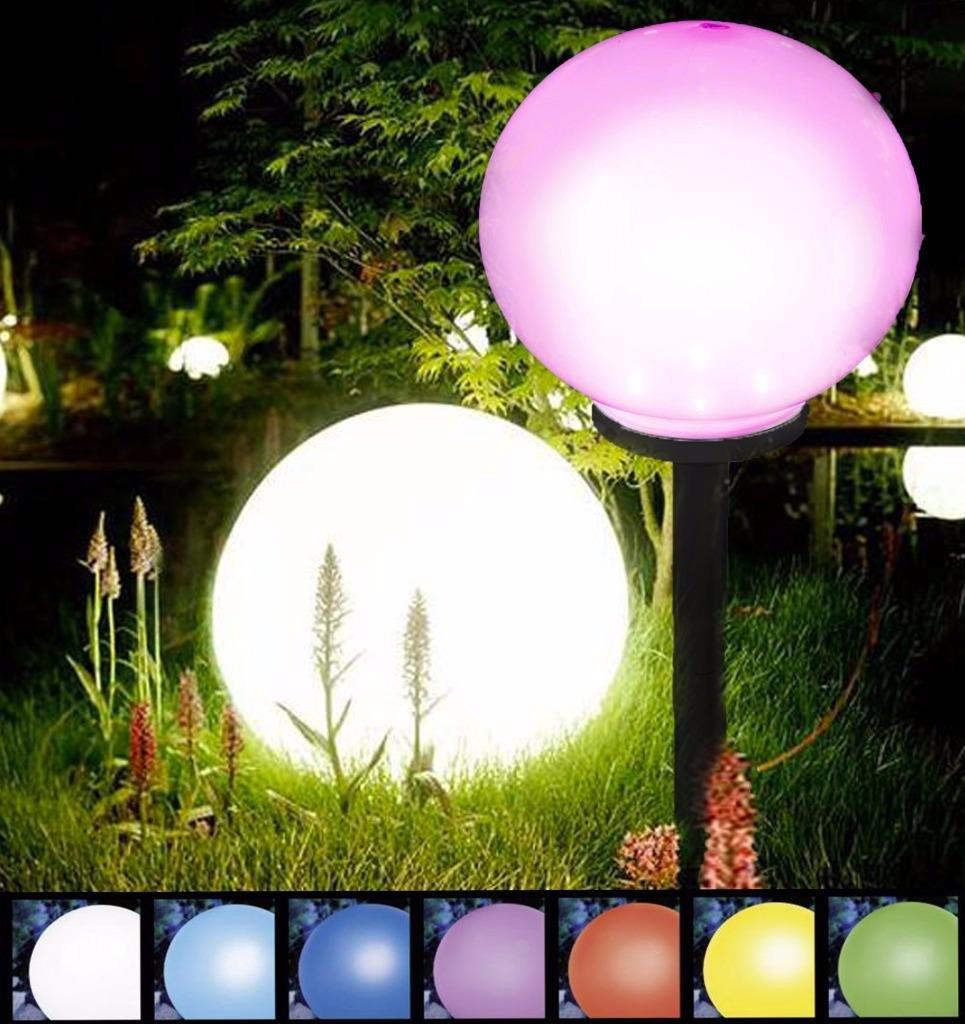 Emejing lampe solaire jardin de couleur photos amazing for Lampe led jardin