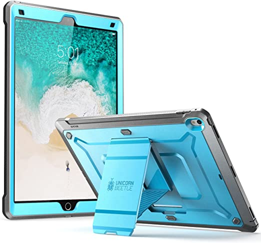 Amazon Com Supcase Ipad Pro 12 9 Case 2017 Heavy Duty Unicorn Beetle Pro Series Rugged Protective Case Without Screen Protector For Apple Ipad Pro 12 9 Inch 2017 Not Fit 2018 Version Blue Computers Accessories