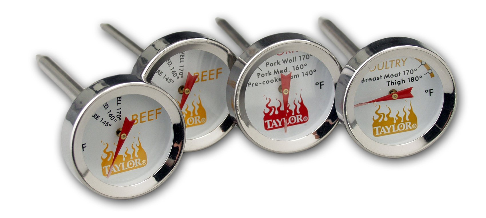 Oh My Grill Button Thermometers, 4-inch, Set of 4