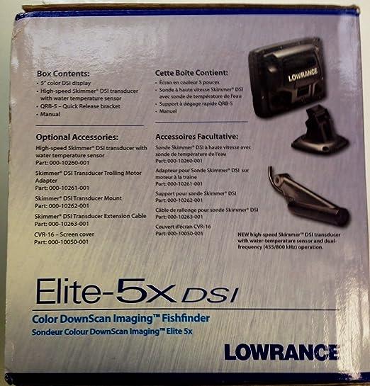 Lowrance Elite 5x Dsi Fishfinder Gps Chartplotter Grey Sport Freizeit