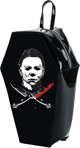 Halloween 2 Michael Myers Crossed Knives Coffin Backpack