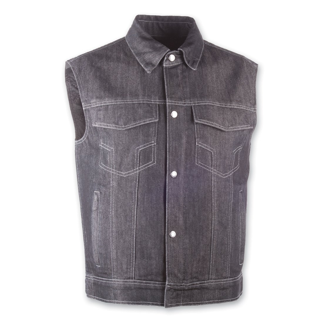 Highway 21 Unisex-Adult Iron Sights Denim Vest with Traditional Collar Blue Large 489-1075L