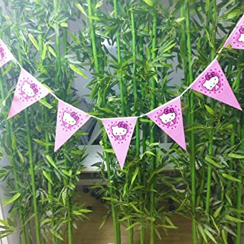Hello Kitty Theme Banner For Birthday Decoration Boys Party