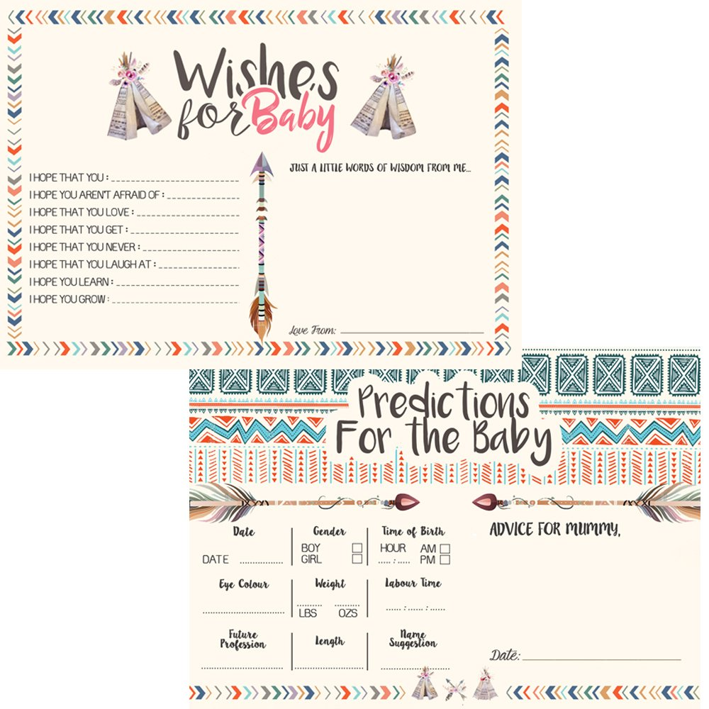 Party game Guest Prediction baby shower game Tribal
