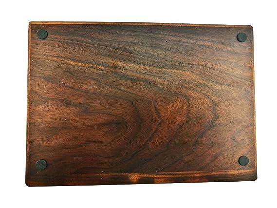 Winterworm Vintage bandeja de madera de nogal organizador 5 compartimento organizador joyería almacenamiento titular de la clave dividido caja organizador ...