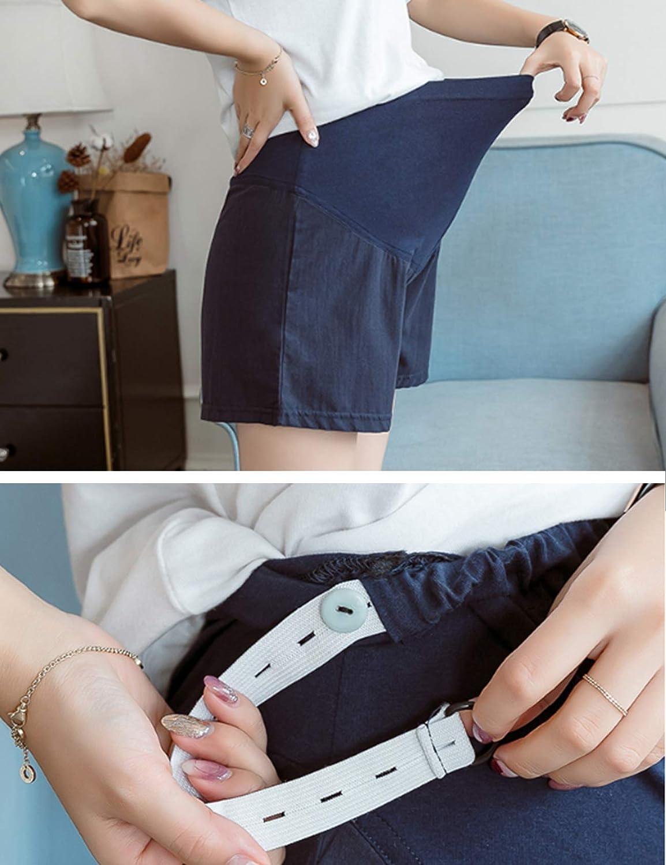 da Donna Jueshanzj Pantaloni da Gravidanza Estivi in Melange di Cotone