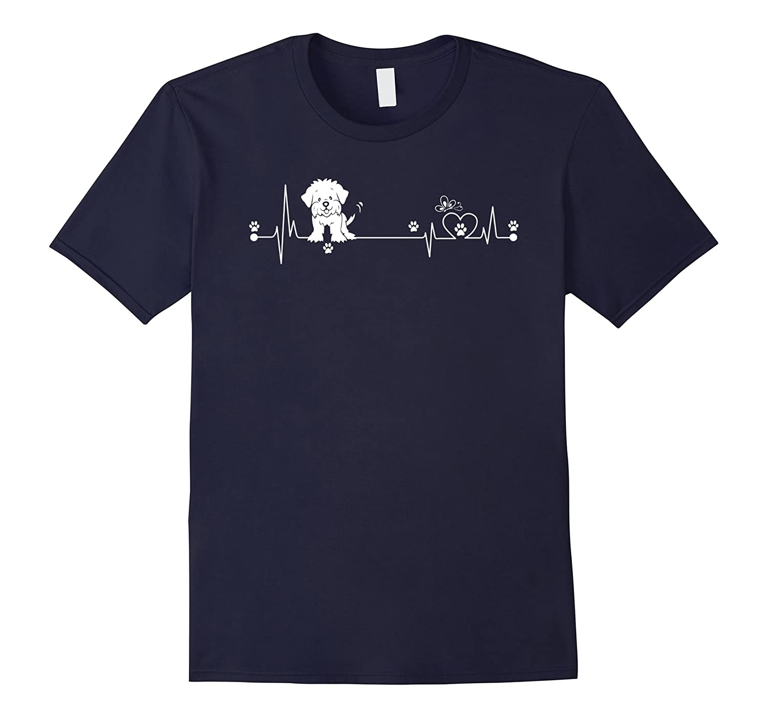 Lhasa Apso T-Shirt, i love Lhasa Apso heart beat-CL