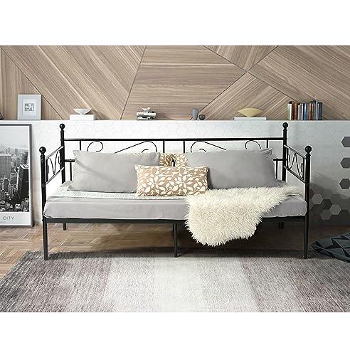 schwarzes metallbett excellent metallbett mit baldachin with schwarzes metallbett latest. Black Bedroom Furniture Sets. Home Design Ideas