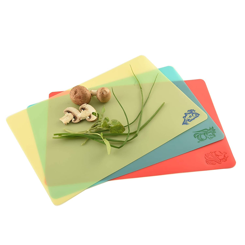 Set of 3 Norpro Cut N Slice Flexible Cutting Boards