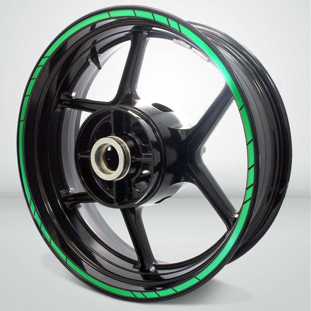 Speed Outer Rim Liner Stripe for Kawasaki Ninja 650 Reflective Green