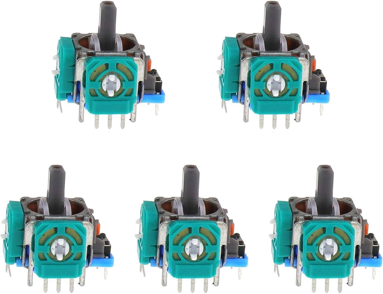 Controlador De Joystick, 3D Sensor Analógico Rocker Stick, Palanca de Mando Interna de Repuesto, PS4 Joystick Analógico, Mando Inalámbrico, Sensor Análogo, 3D Módulo para Game Console Controller