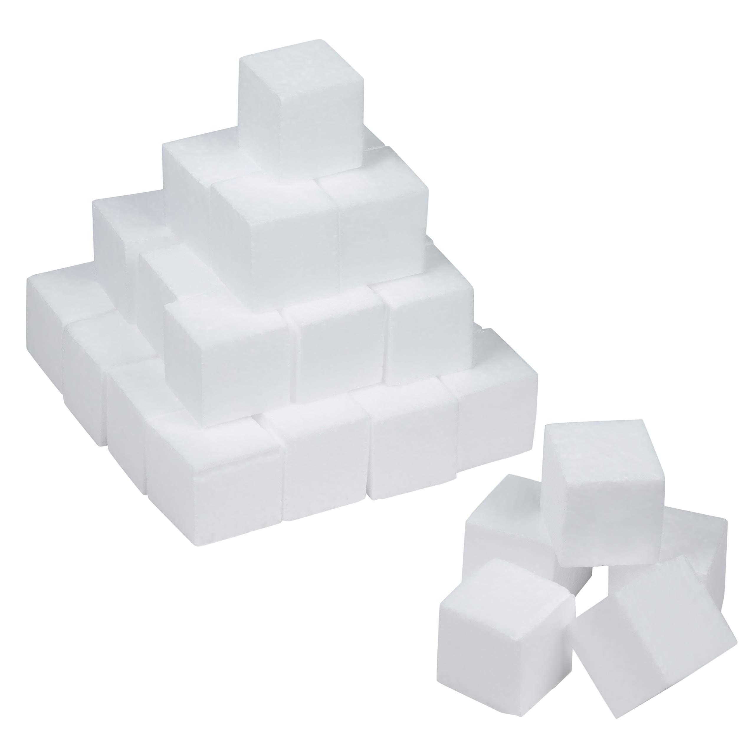 Craft Foam Blocks - 36-Piece Polystyrene Foam Blocks for Crafts and Modeling, 2 x 2 x 2 Inches Blank Craft Foam by Genie Crafts (Image #1)