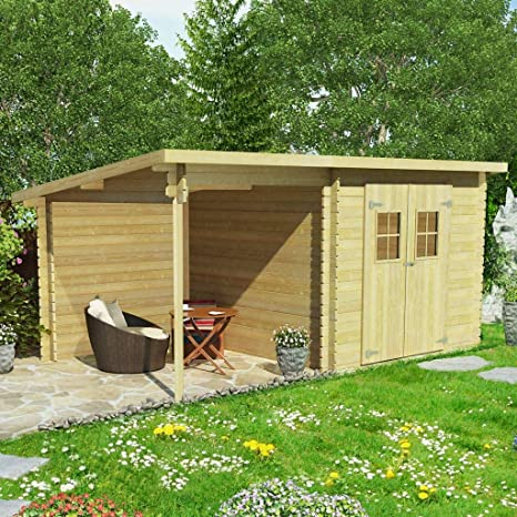 Xingshuoonline Outdoor Storage Shed Log Cabin Casetta Da