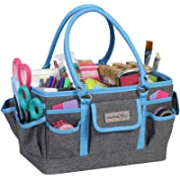 Everything Mary Craft Bag Organizer Tote, Blue - Storage Art Caddy for Sewing & Scrapbooking - Crafts Supply Carrier w…