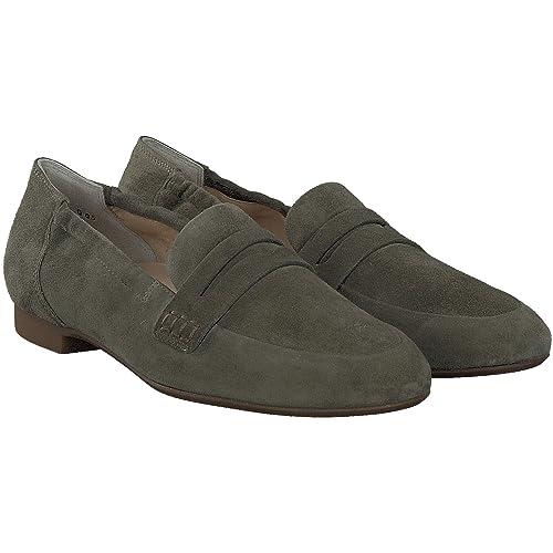 Paul Green 1070-132 - Mocasines de Piel para Mujer Verde: Amazon.es: Zapatos y complementos