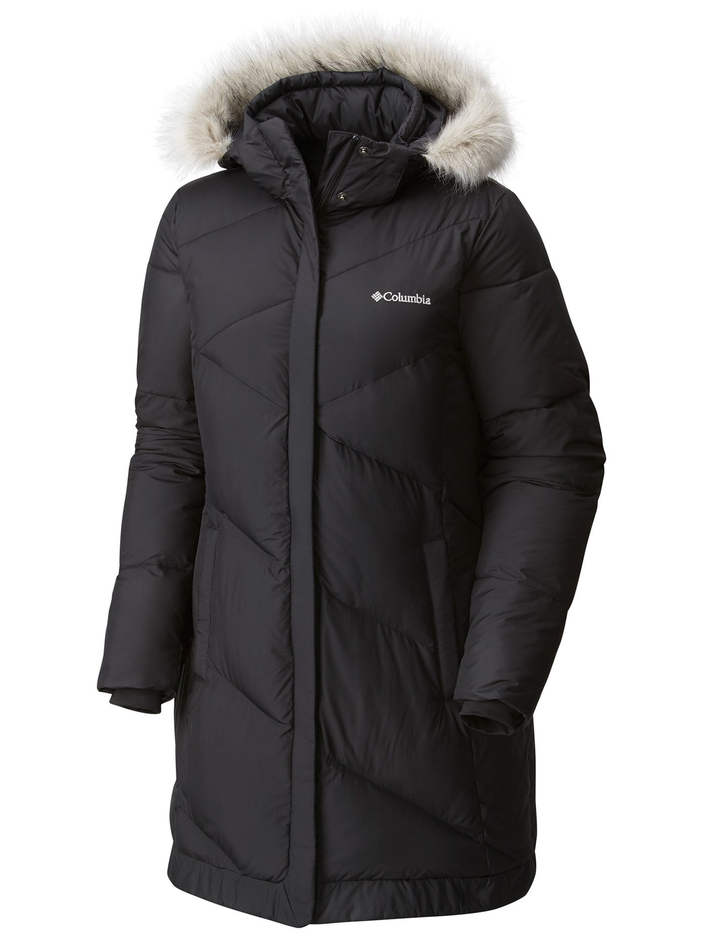 Columbia Women's Snow Eclipse Mid Jacket, Black, XL