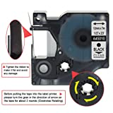 Anycolor 5 Pack Compatible DYMO D1 Label Tape 45010 S0720500 1/2 Inch 12mm Black on Clear Labeling Tape for DYMO LabelManager PnP 210D 280 420