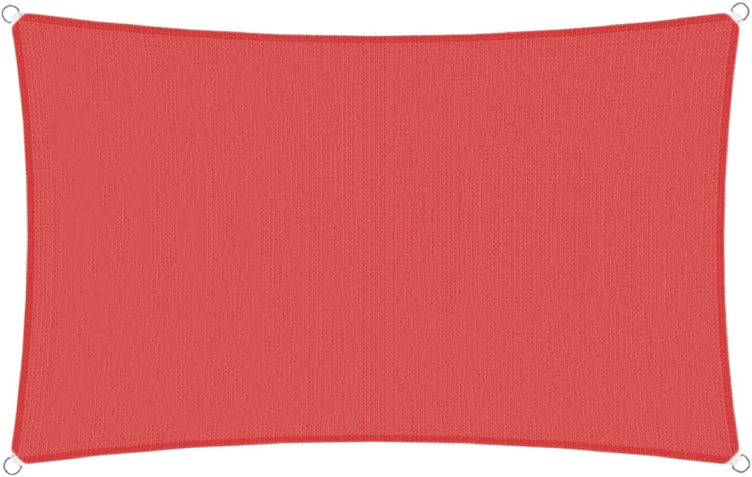 TANG Sunshades Depot 10' x 15' Sun Shade Sail Rectangle Permeable Canopy Red Customize Commercial Standard 180 GSM HDPE