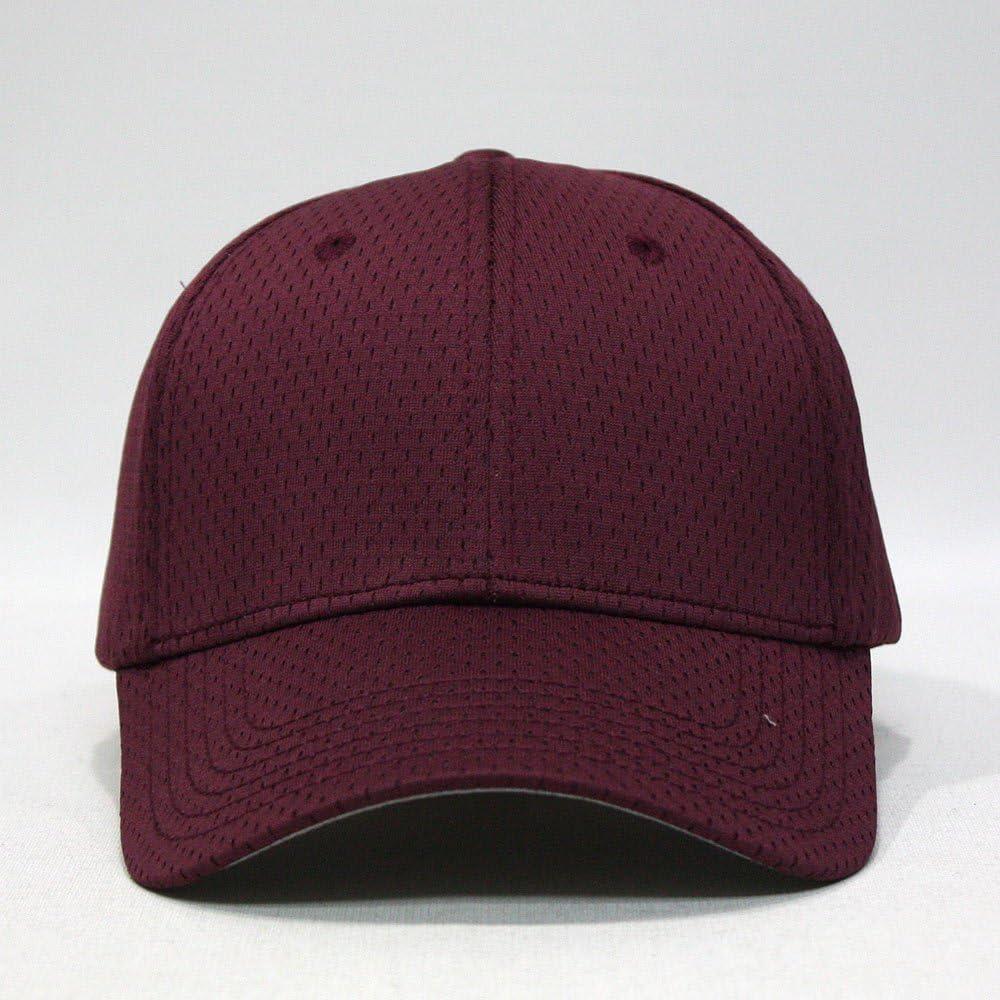 Plain Pro Cool Mesh Low Profile Adjustable Baseball Cap Maroon