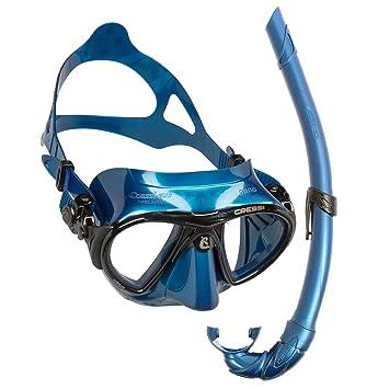 Action Sport abenteuertauchen cressi Air Blue Nery – Máscara de buceo con esnórquel Corsica Flex