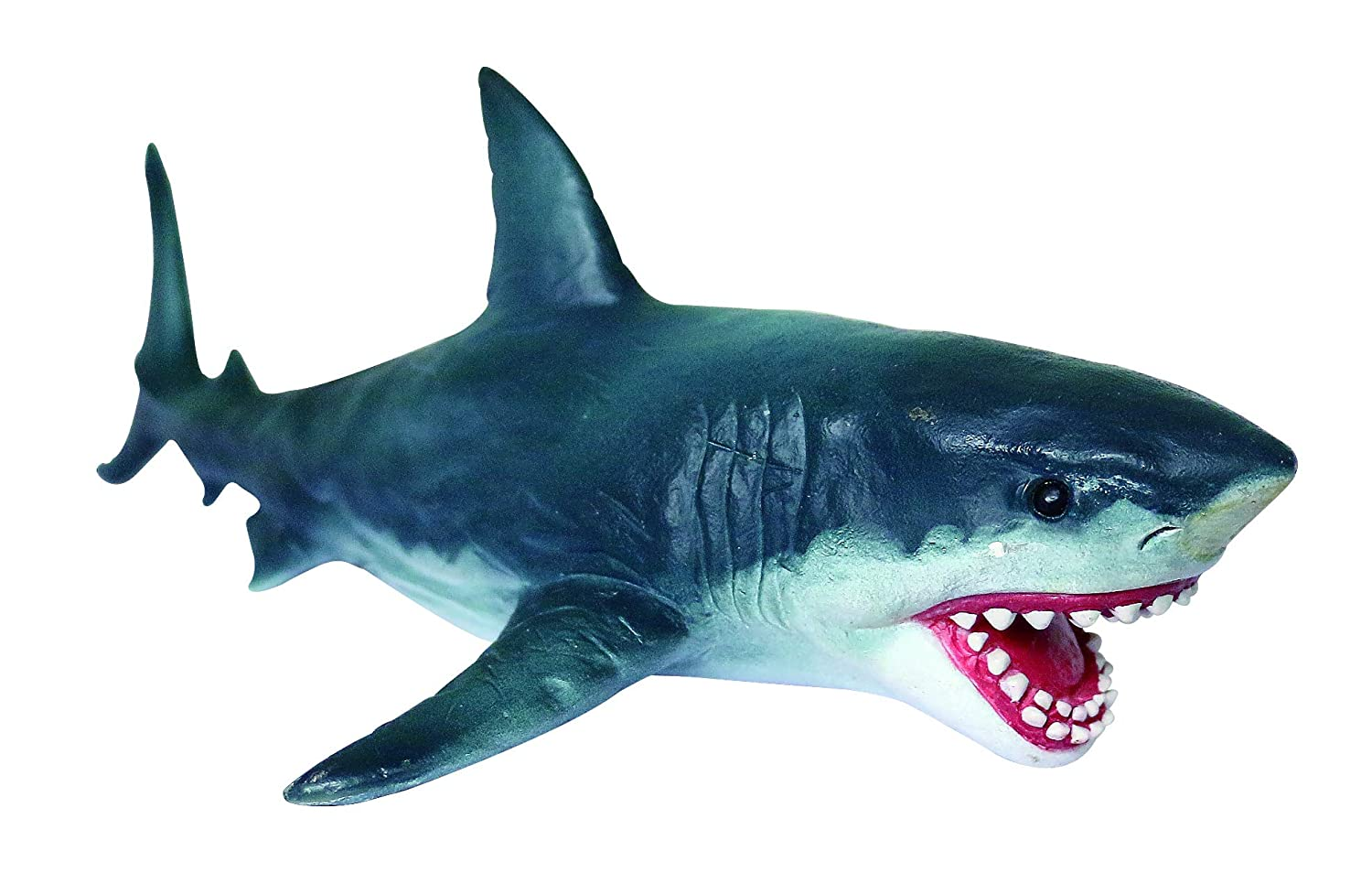 Geminismart Sea Life Great White Shark Action Figure Model Toy Soft Rubber Realistic Educational and Role Play Toys for Kids