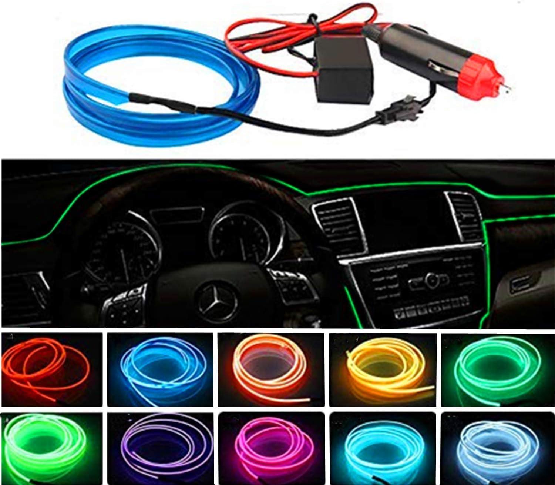 5M LED Rougeoyant /Électroluminescent Fil Lumi/ère Feux Froid avec Drive pour Voiture Decoration STARPIA USB N/éon EL Wire Fil pour Int/érieur De Voiture Rose