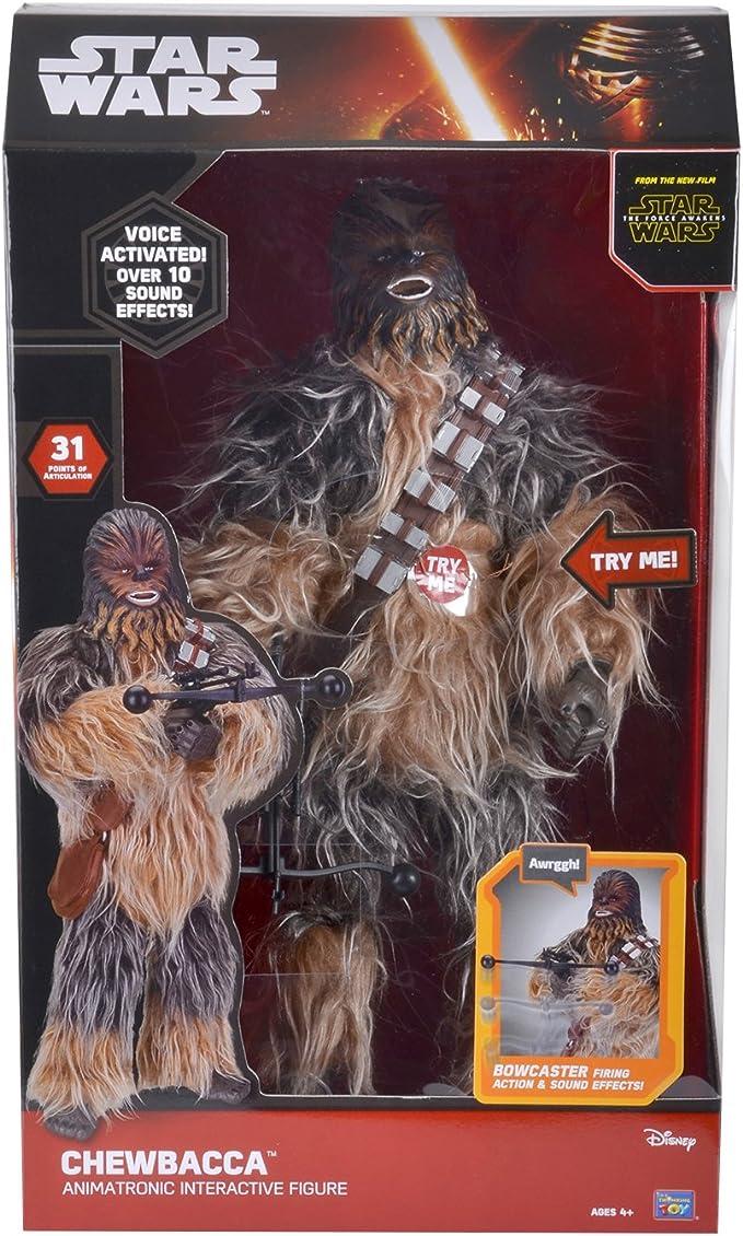 "Star Wars ANIMATRONIQUE INTERACTIF 17/"" Figurine Chewbacca"