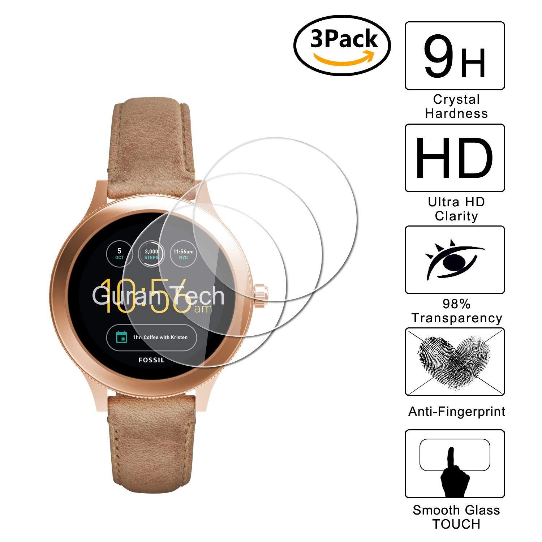 Guran [3-Unidades] Protector de Pantalla Vidrio Cristal Templado para Fossil Q Venture 3.Generation Smartwatch Cristal Vidrio Templado Film (9H, 2.5D ...