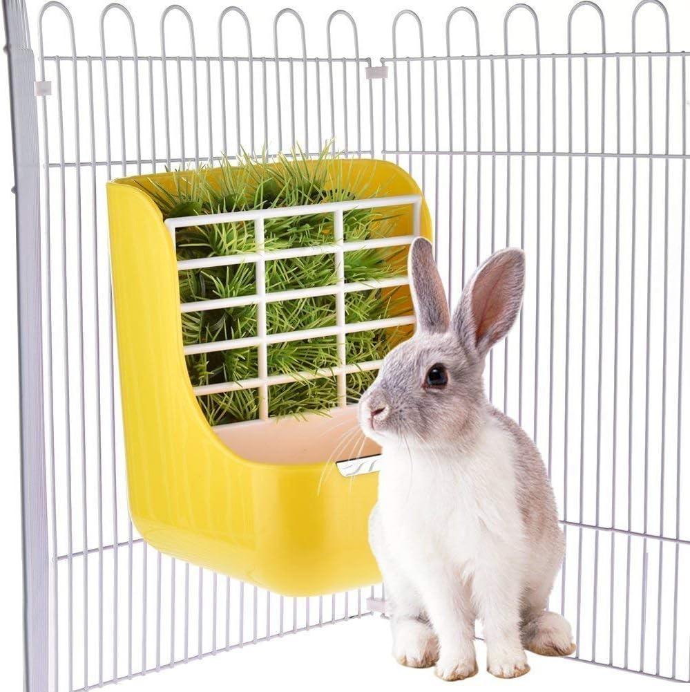comedor para cobayos hamsters conejos pasto y alimento