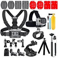Profilter 20-In-1 Gopro Accessories,Action Camera Accessory Kit for GoPro Hero Session Hero 6 5 4 3 SJ4000 Xiaomi Yi DBPOWER and Other Sports Cameras (20 in1)