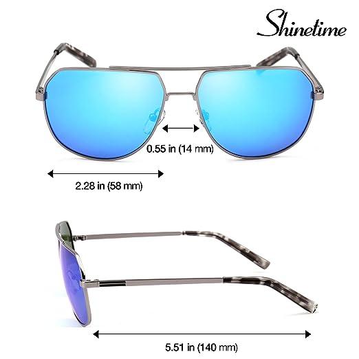 Gafas de sol deportivas, Shinetime Gafas de sol de diseñador Polarizadas Bueno para conducir Pesca 100% Protección UV400 para hombres Mujeres (Azul): ...