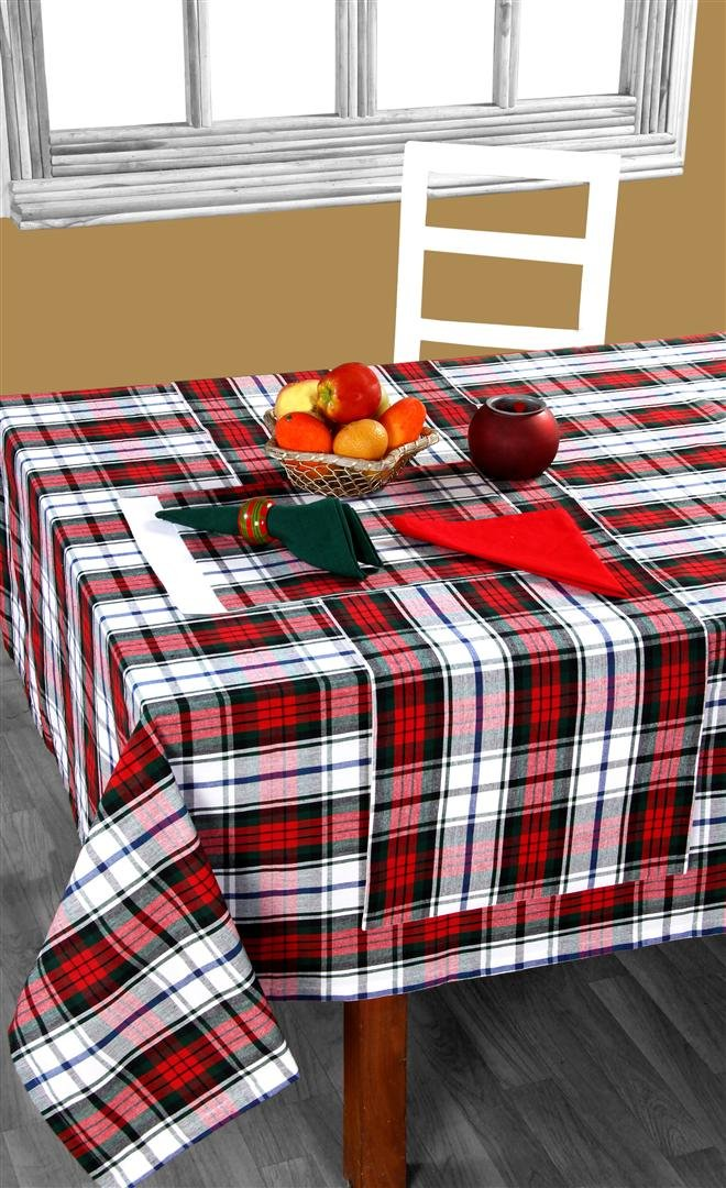 Homescapes   100% Cotton Christmas Macduff Tartan Table Runner:  Amazon.co.uk: Kitchen U0026 Home
