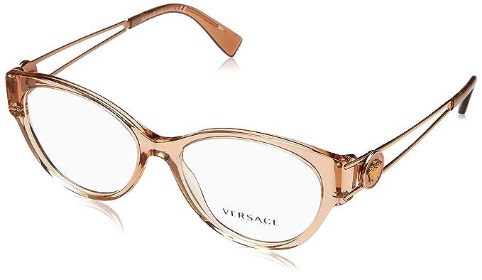 40c90c5aa8c9 Eyeglasses Versace VE 3254 5215 TRANSPARENT BROWN  Amazon.co.uk  Clothing