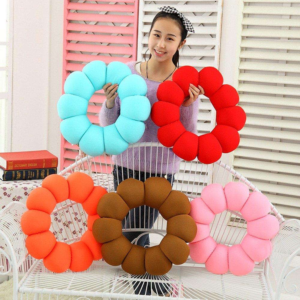Baonmy Donut Seat Cushion Comfort Pillow microbead travel pillow (Blue)